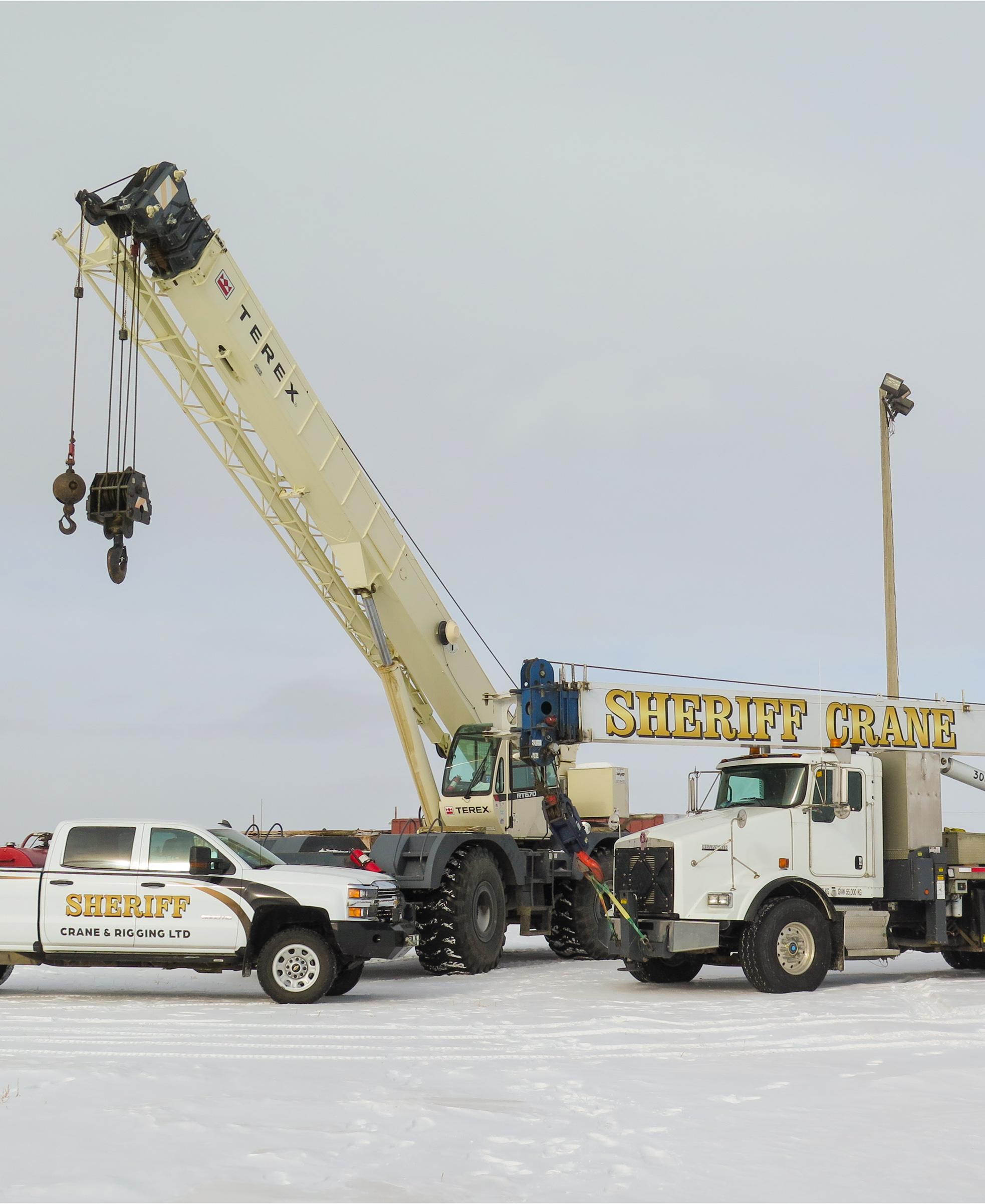 Crane Services in Saskatoon by Sheriff Crane